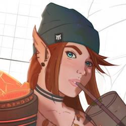 Beanie Warcraft Skater Girl OC - needs a name!