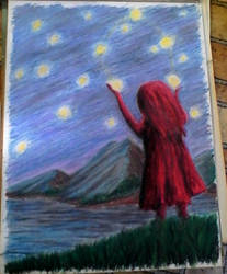 Juggling Stars (better pic) by OnyxFlame