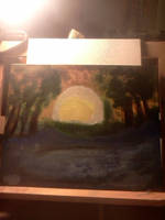 First Acrylic Painting DLT _ Background by TheTurtleKingLives