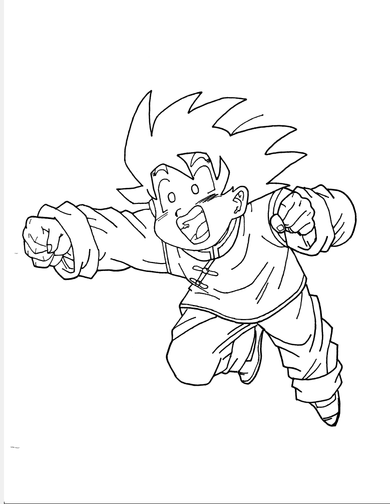 Free Dragon Ball Z Gotenks Coloring Page, Download Free Clip Art ... | 1006x779