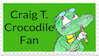 Craig T. Crocodile Stamp by CraigTheCrocodile