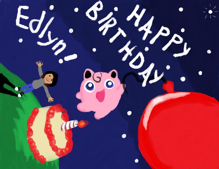 Jigglypuff says happy birthday by SkYB0Und on deviantART