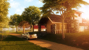 Countryside - 3D version by Glaubart