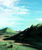 Sketch paisagem by Glaubart