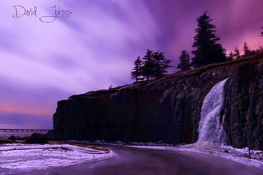 Frozen waterfall at McHugh Creek by Djohns