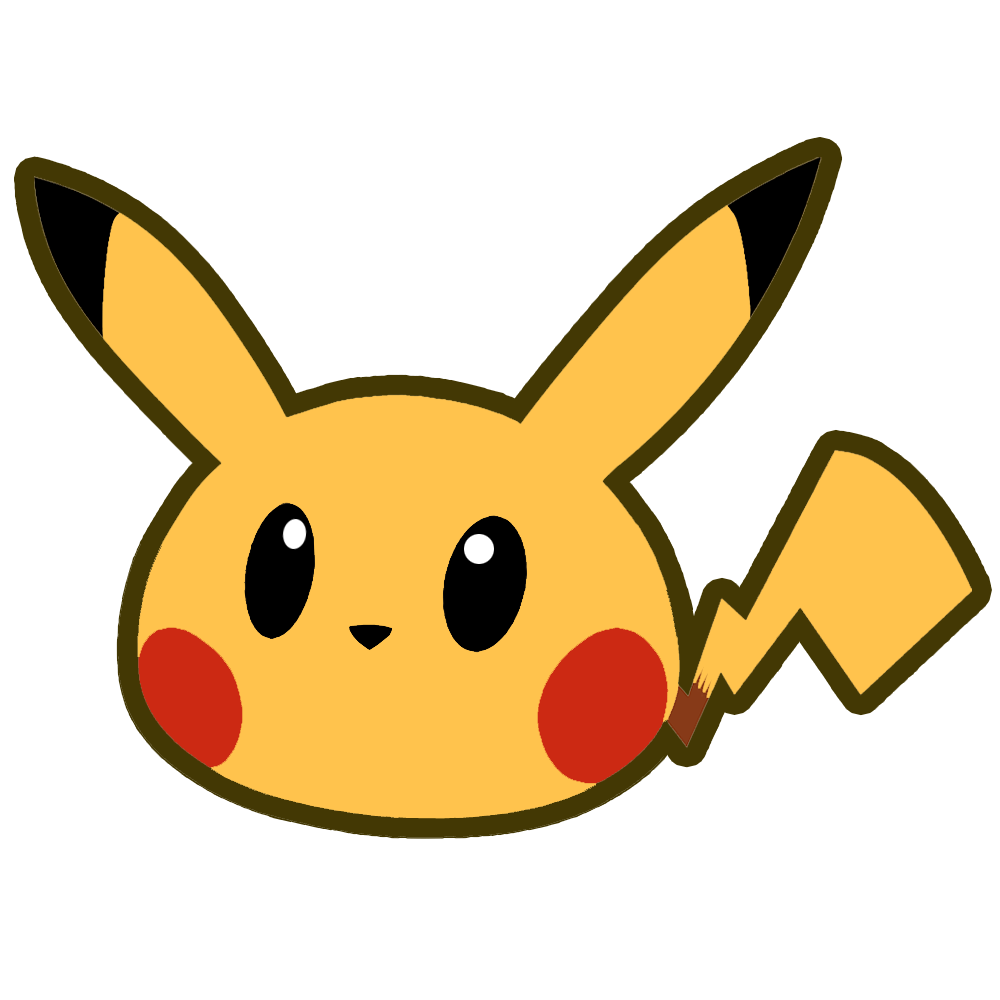 Pikachu head by Twin-Gamer