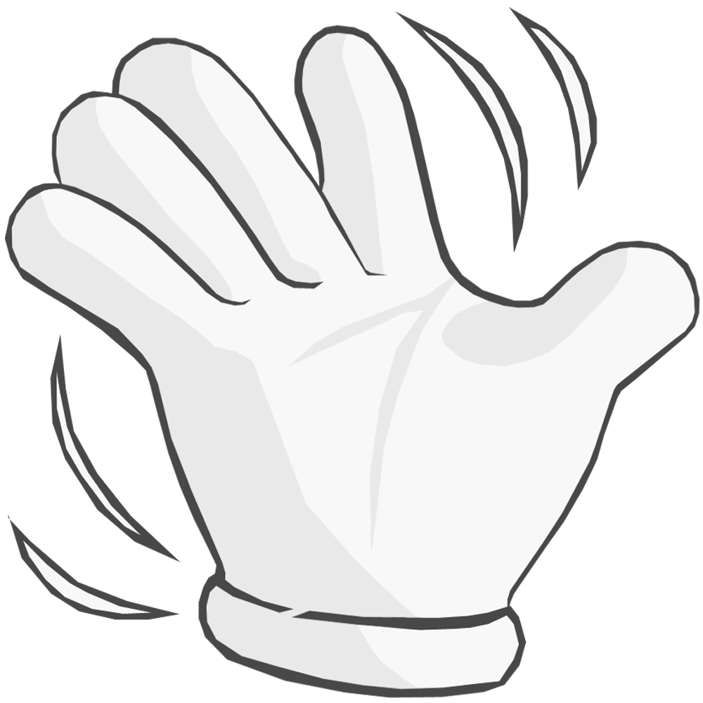 hand waving clipart - 900×935