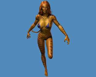 Tigra action by MorganCygnus