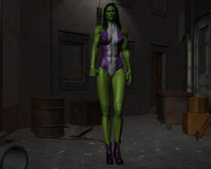 Tigra and She-hulk by night 21