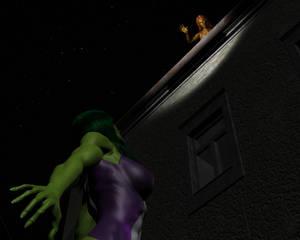 Tigra and She-hulk by night 22