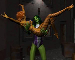 Tigra and She-hulk by night 27