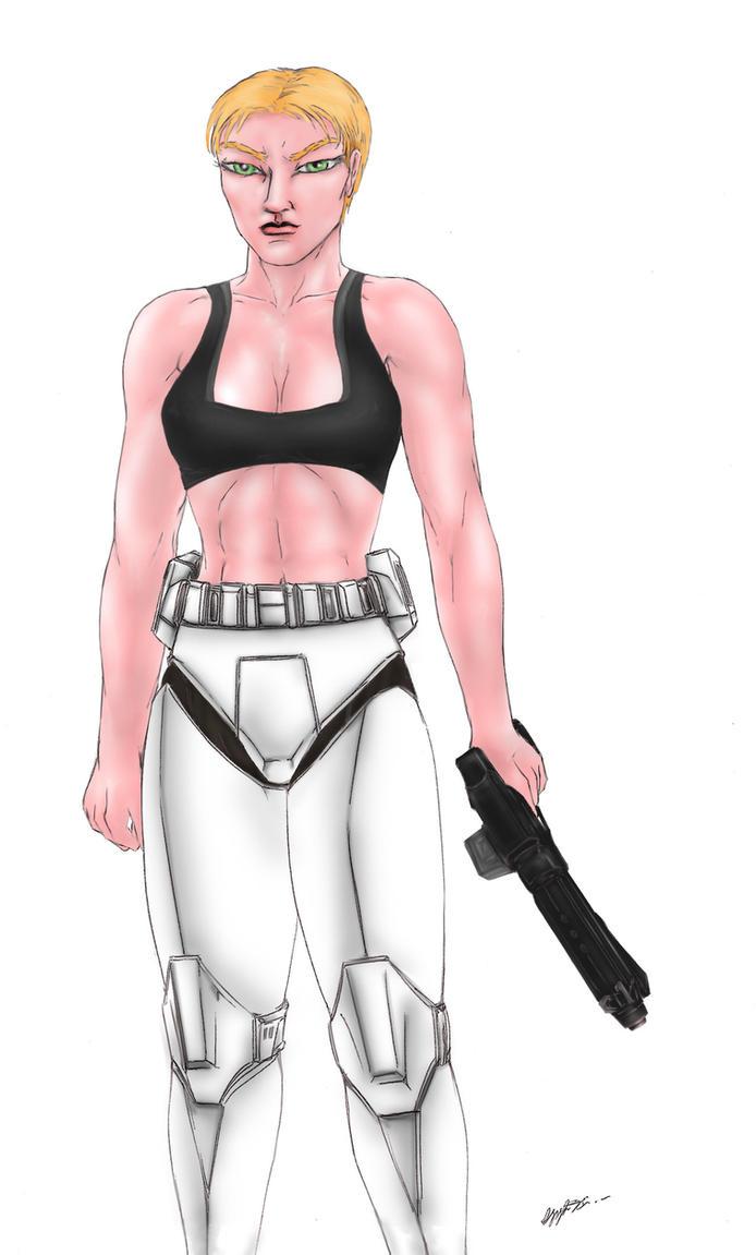 F Clone trooper half naked by MorganCygnus on DeviantArt