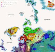 Fantasy world map - Political by MorganCygnus