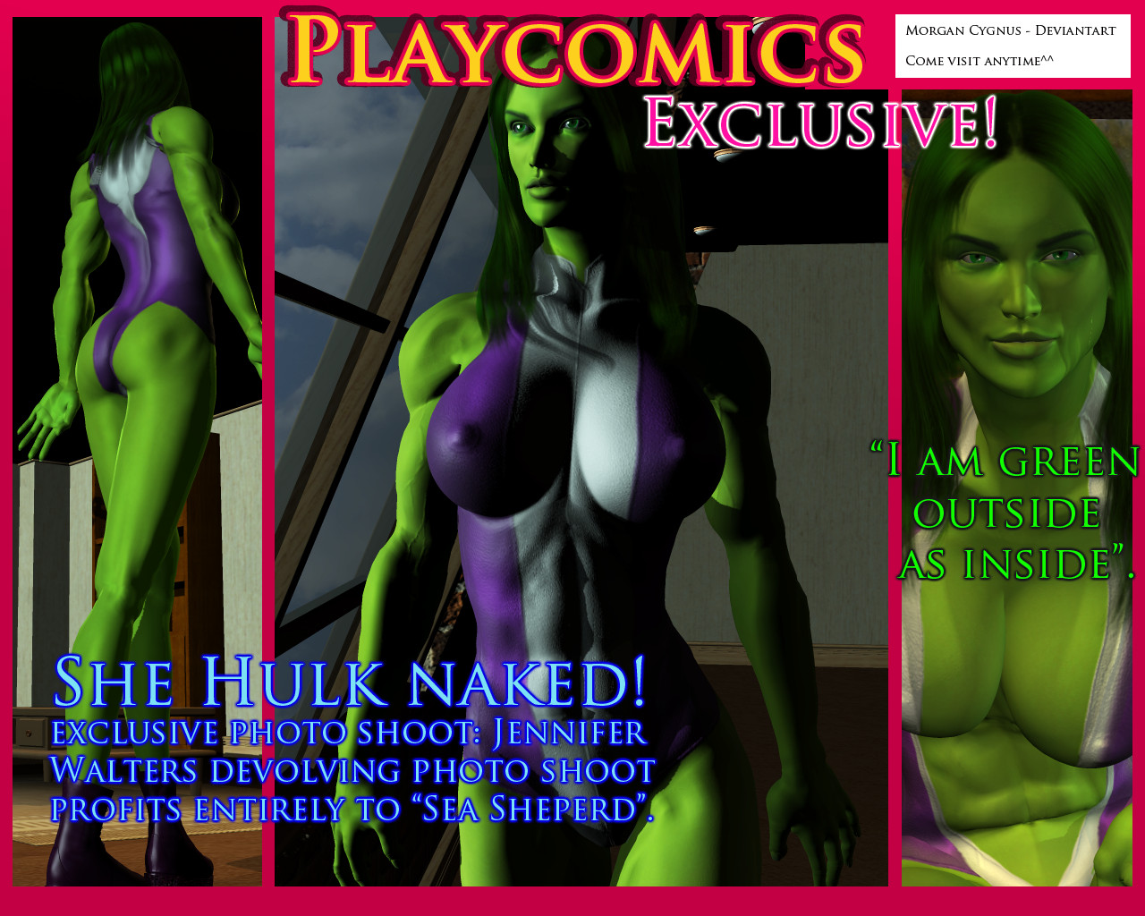 EXCLUSIVE - SHE HULK NAKED by MorganCygnus