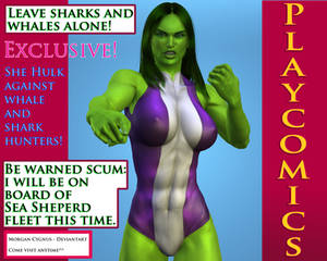 She-hulk:pro whales and sharks