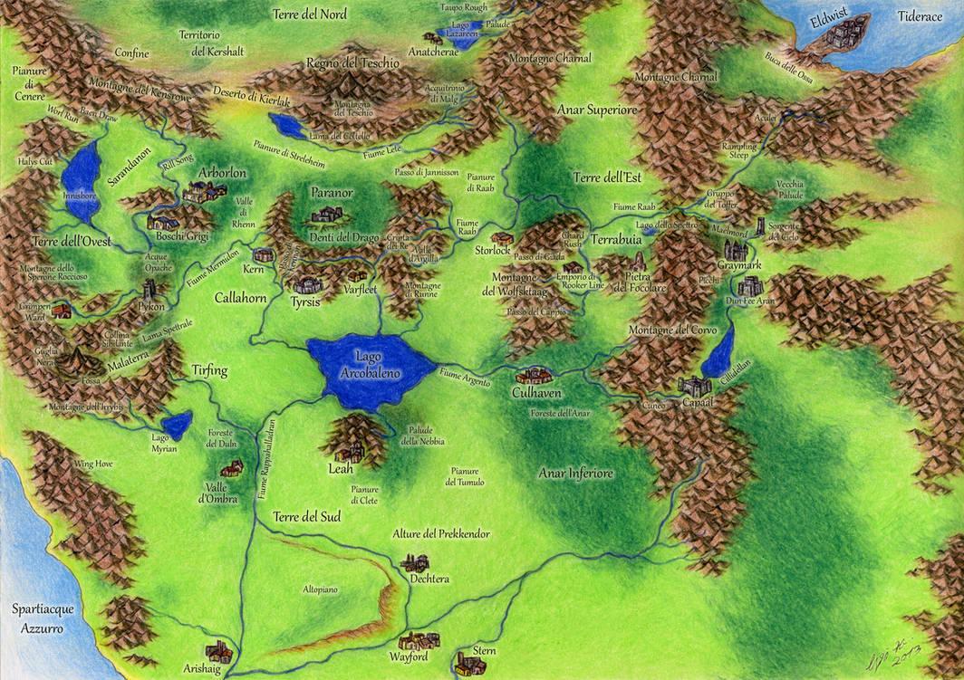 Map Of Shannara Shannara   the Four Lands by MorganCygnus on DeviantArt