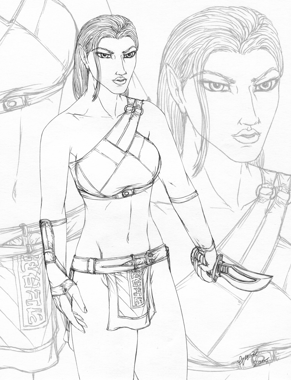 Eyara - Elven warrior