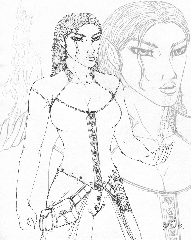 Nari Aethera - elf Sorceress