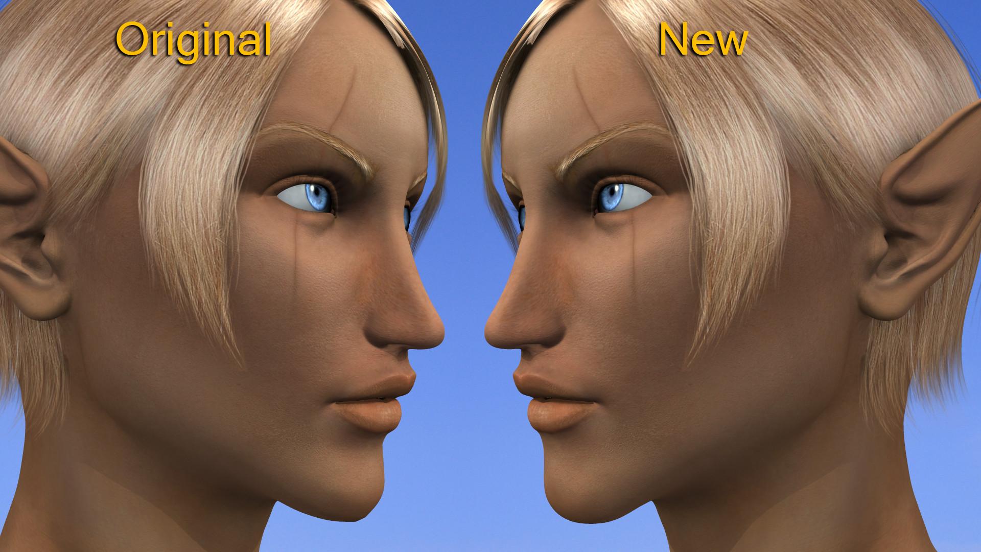 Modifiche al volto A lato