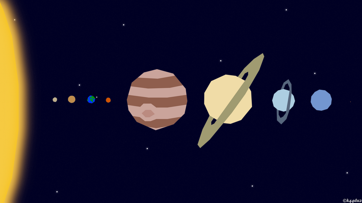 Vector Solar System Wallpaper 4k By K44du2