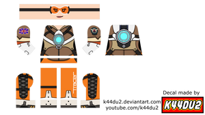 LEGO Tracer Minifig Decal Overwatch