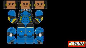 Lego Minifig Pharah Decal Overwatch