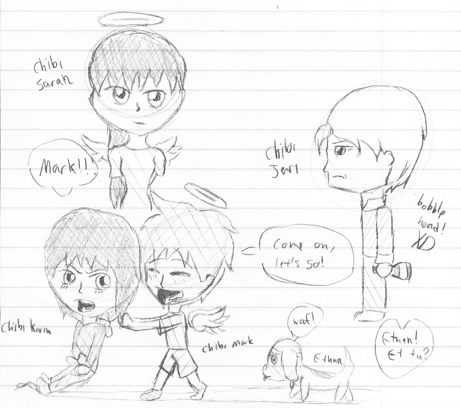 Broken Wing Chibi Doodlez!! by 14AmyChan
