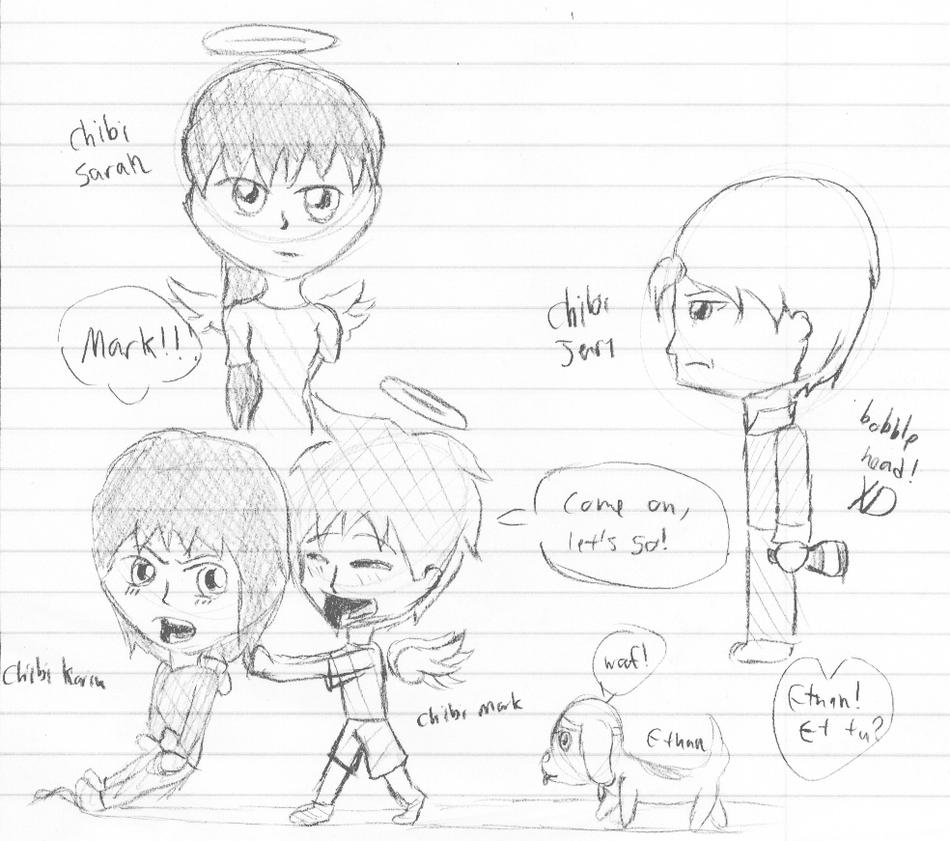 Broken Wing Chibi Doodlez!! by AmyNChan