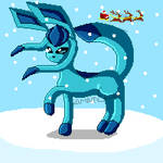 Glaceon Wishes You a Happy Winter by KarenTheEevee5