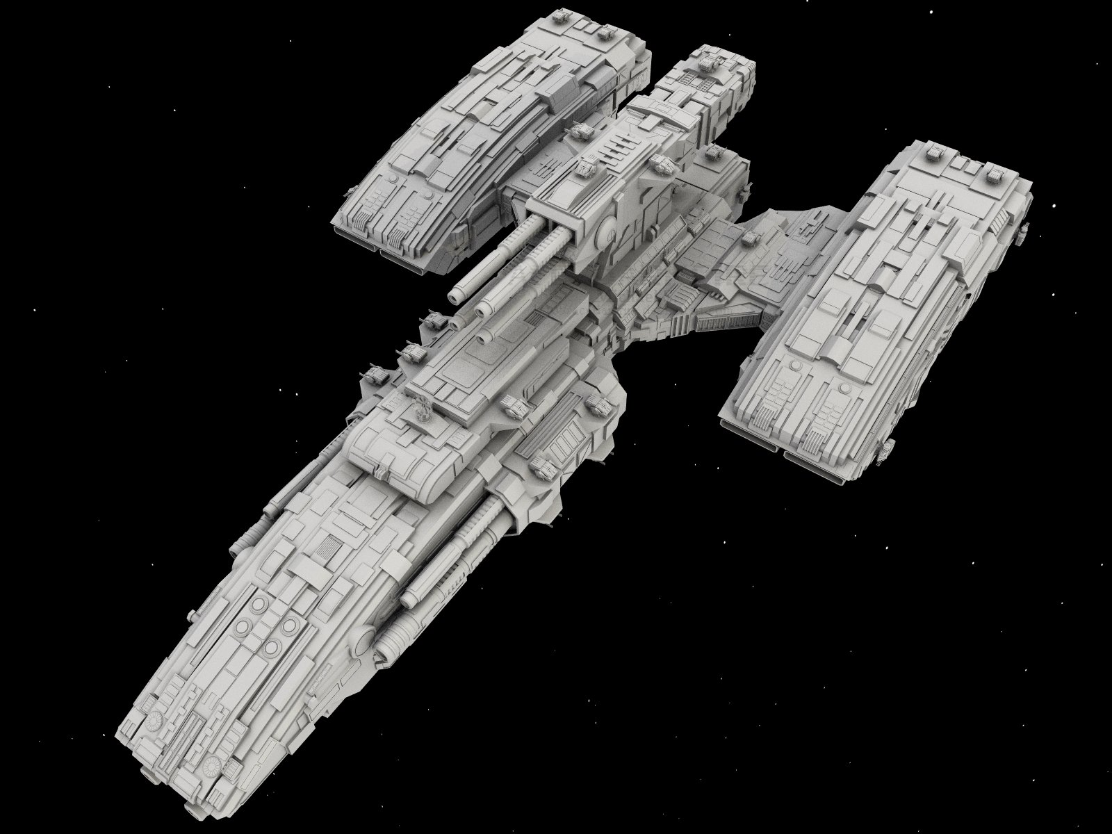 WiP6: BattleCruiser by AceDarkfire