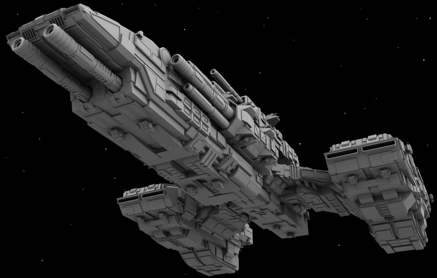 WiP8: BattleCruiser by AceDarkfire