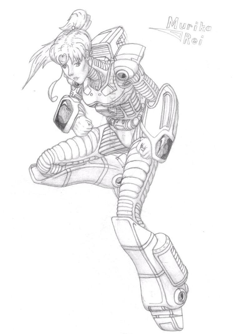 MekGirl: Murika Rei by AceDarkfire