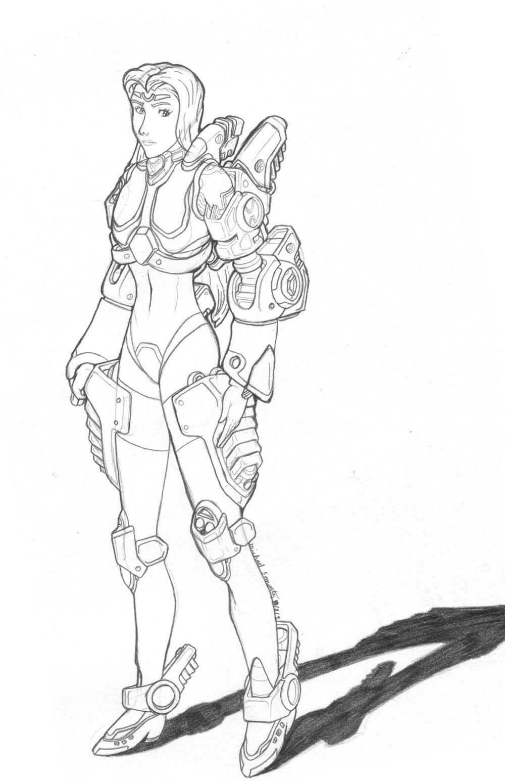 MekGirl: Mallica by AceDarkfire