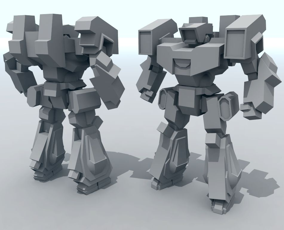 AT1: BT LowPoly: Crusader by AceDarkfire