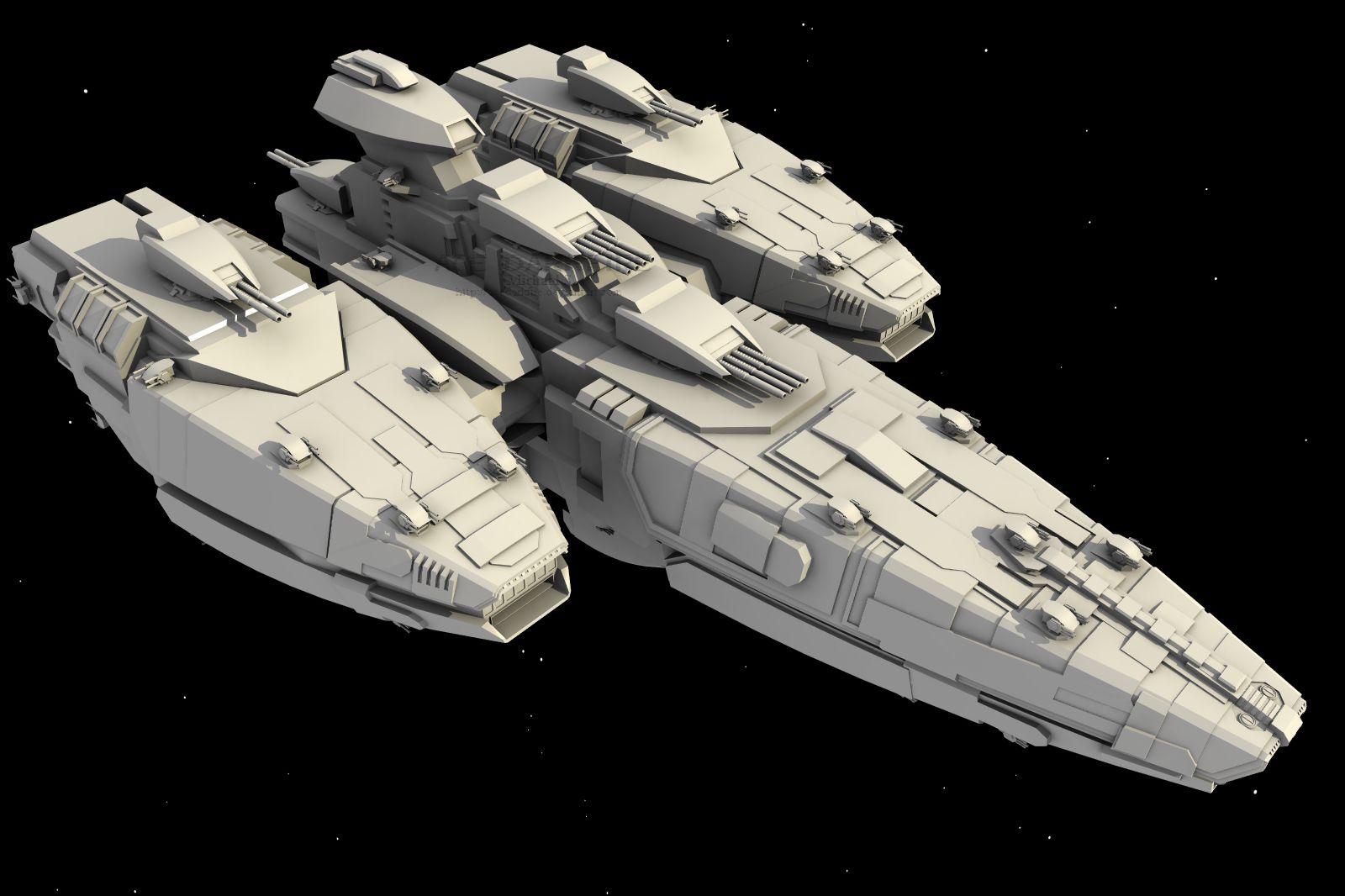 W.i.P2: WarHawk-class BB by AceDarkfire