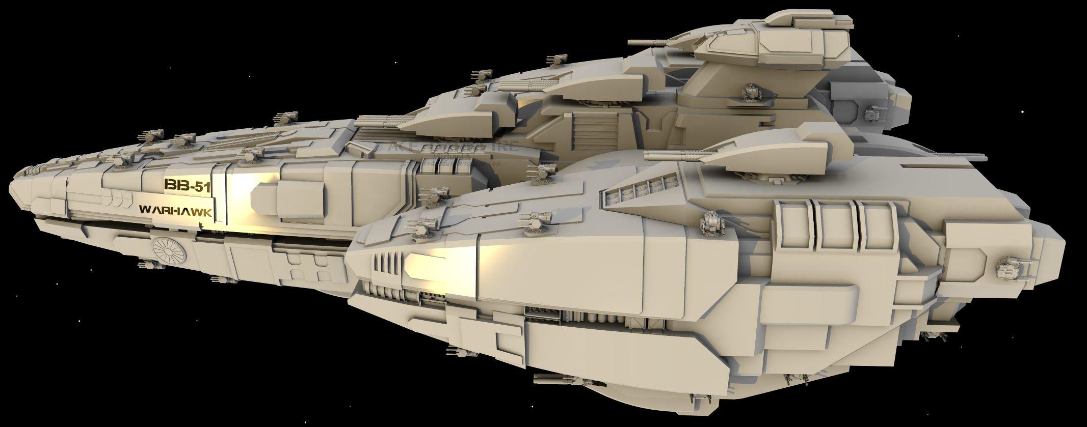 WiP3: WarHawk BattleShip by AceDarkfire