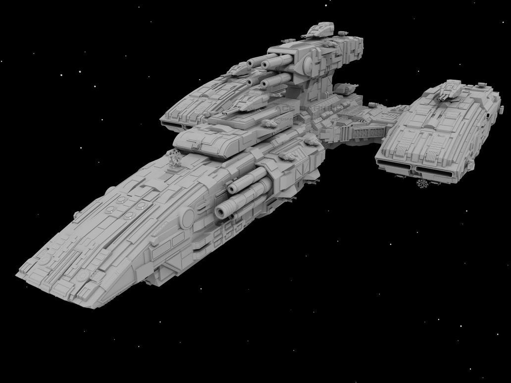 Renegade-class BattleCruiser by AceDarkfire