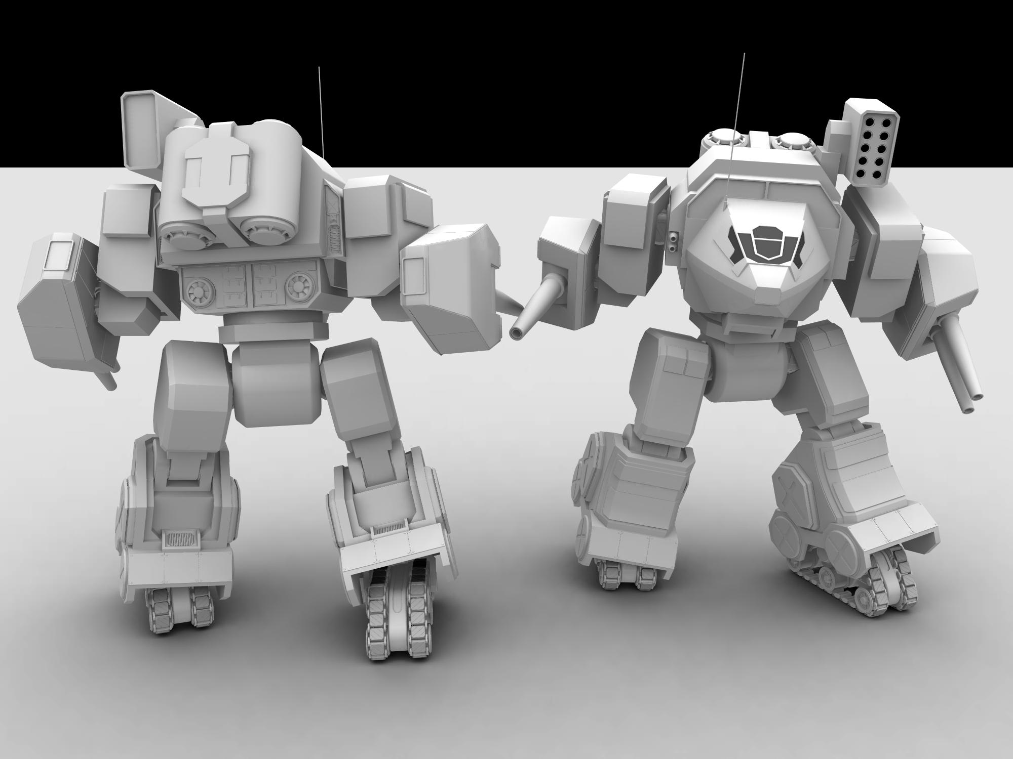 W.i.P: Assault Mech by AceDarkfire
