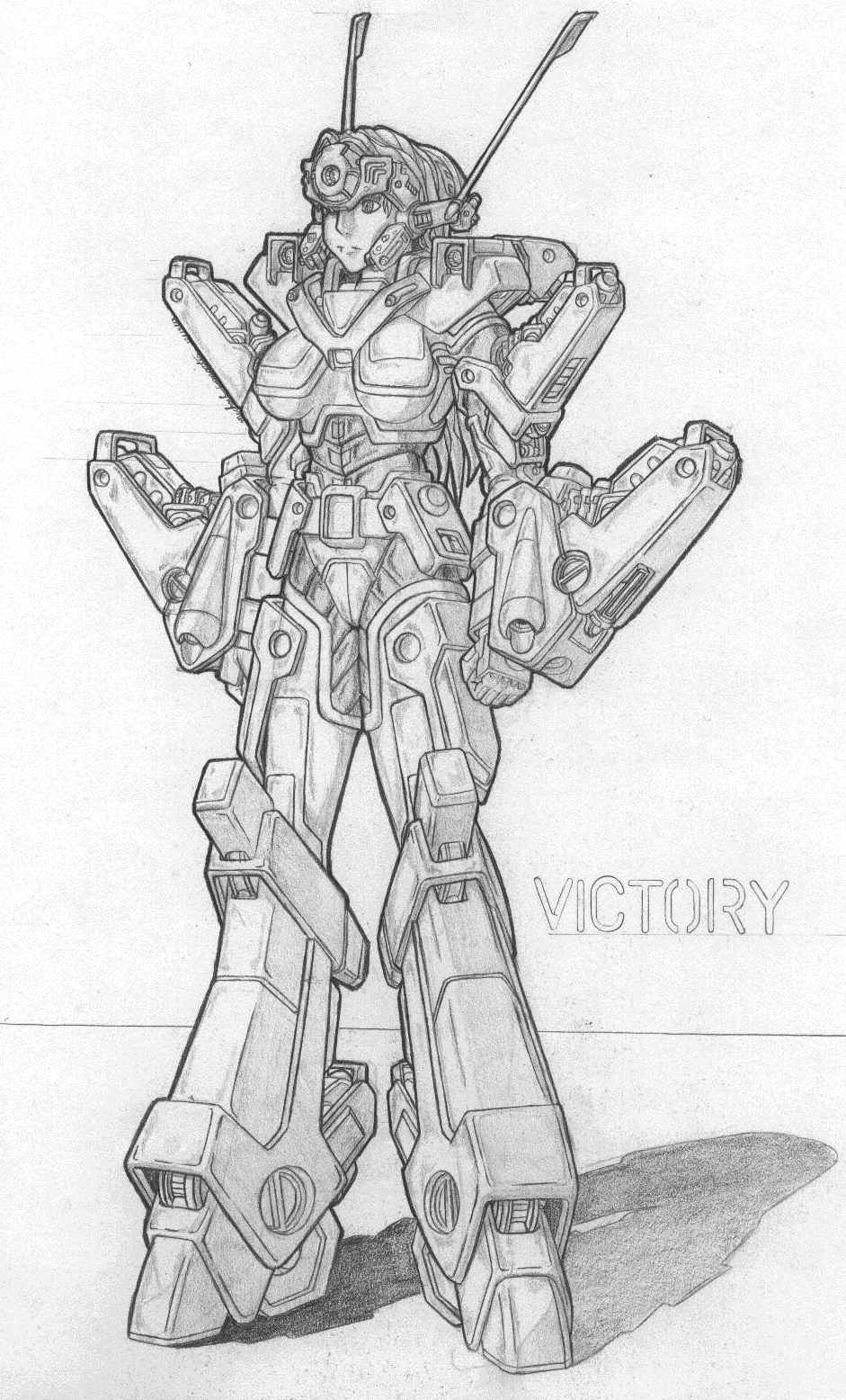 MekGirl: Victory Image 2 by AceDarkfire