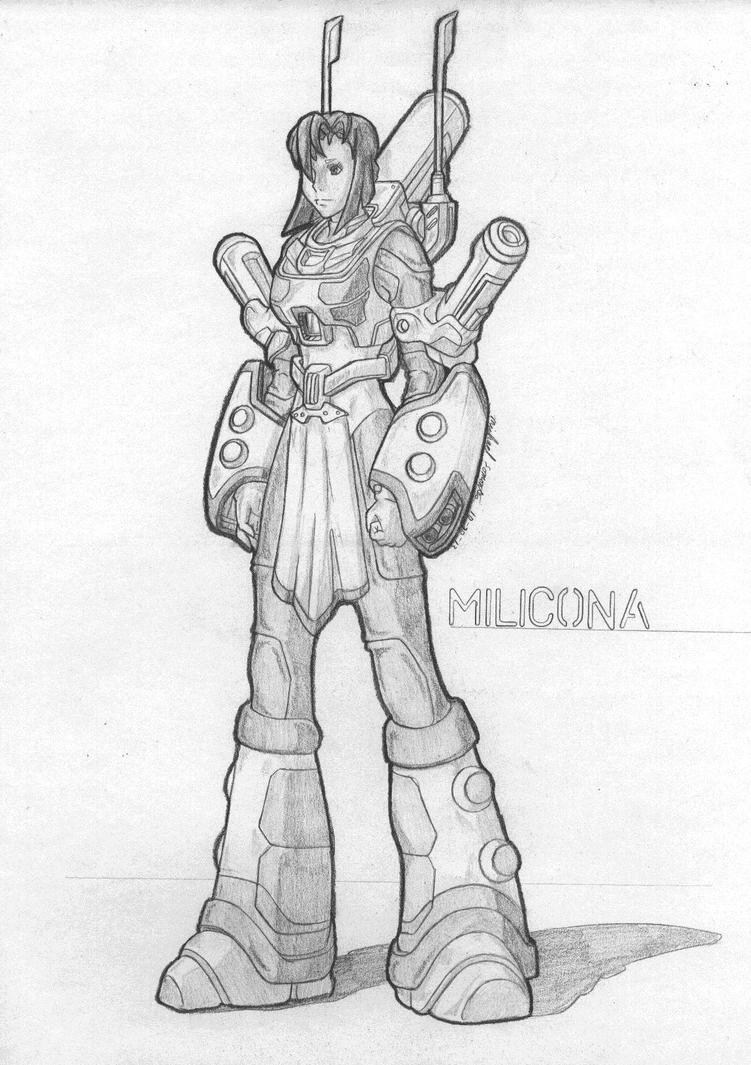 MekGirl: Milicona (Redraw) by AceDarkfire