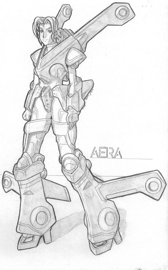 MekGirl: Aera by AceDarkfire