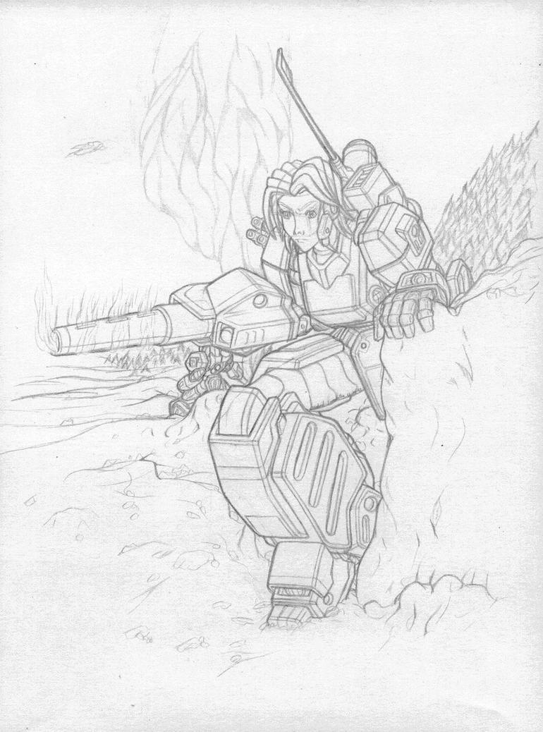 Defensive Position [Rough] by AceDarkfire