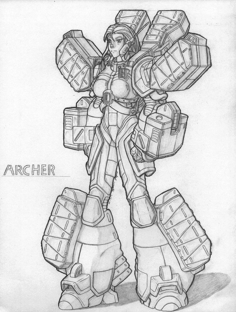 MekGirl: Archer by AceDarkfire