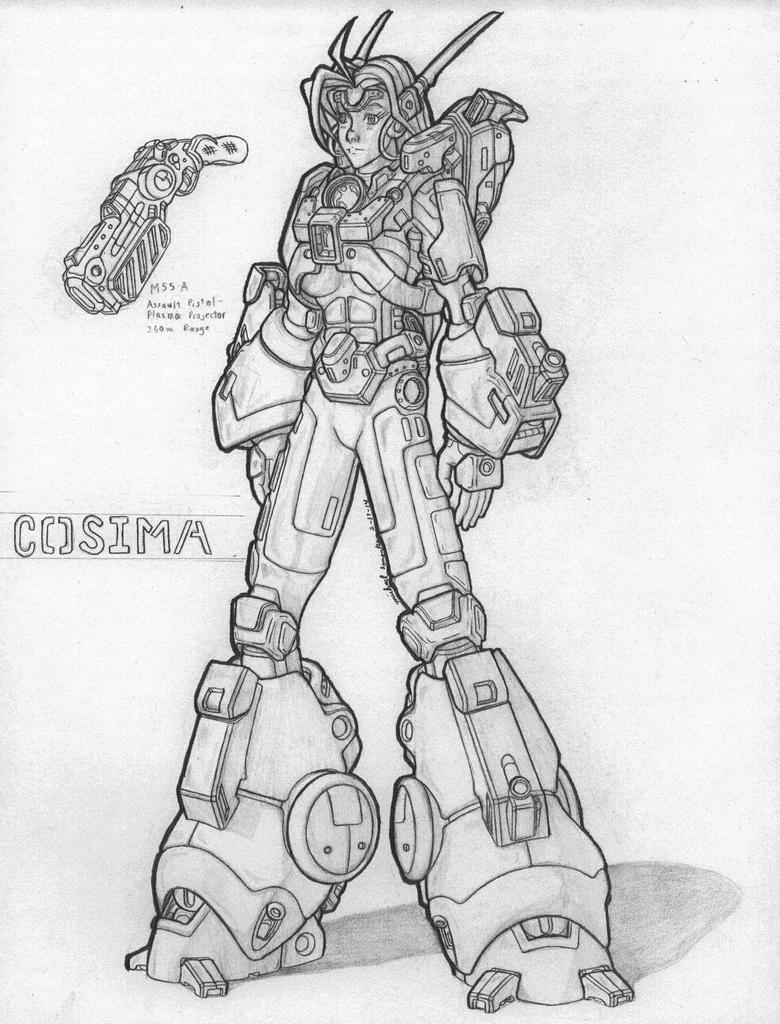 MekGirl: COSIMA by AceDarkfire
