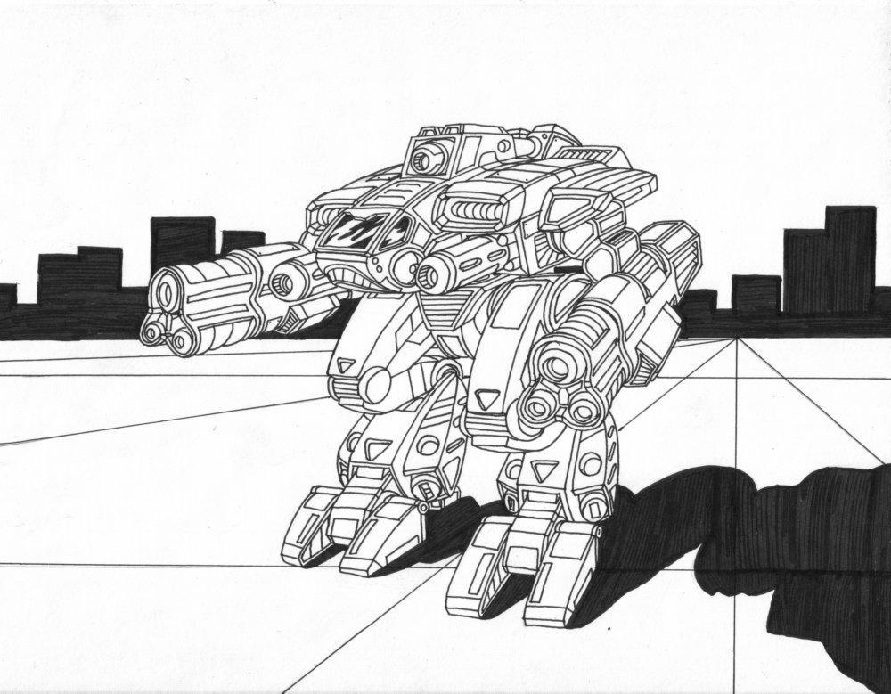 Mammoth BattleMech by AceDarkfire