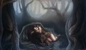 [Gift] Jeune elfe avec son loup
