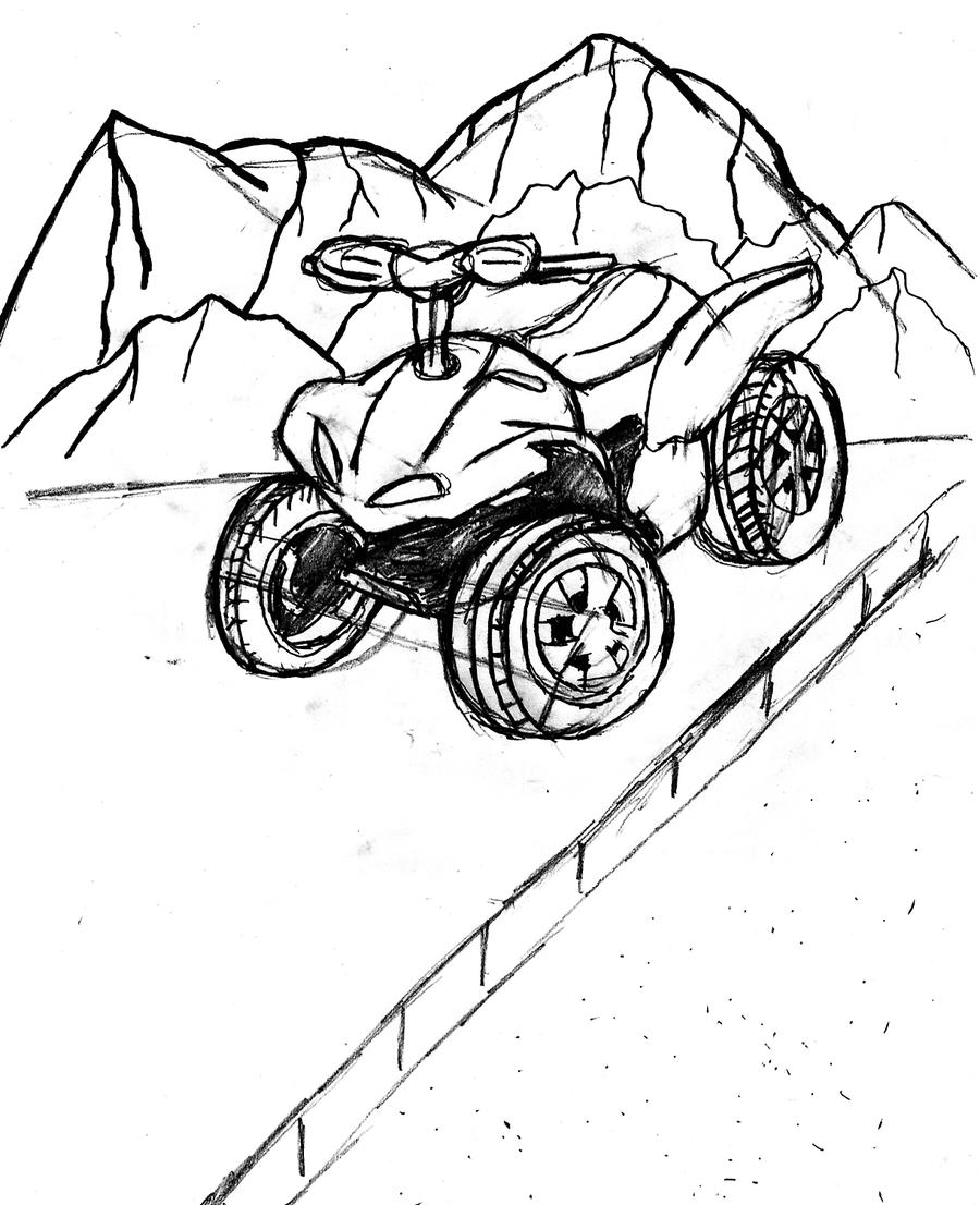 Coloring pages quad bike - Brawny Atv Coloring Pages Atv Free Coloring 4 Wheeler Coloring Filename Mountain_quad_bike_by_zanten94 Jpg