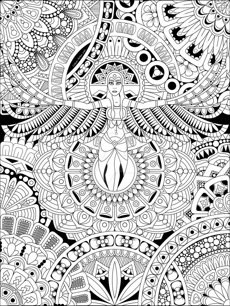 Mandala GoddessBW by Amyice1121