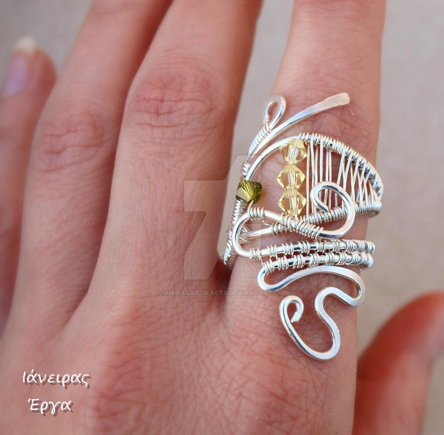 Silver plated Wire wrapped ring by IanirasArtifacts on DeviantArt