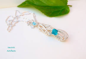 OOAK Sterling Silver plated wire wrapped pendant by IanirasArtifacts